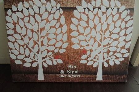 客製化 婚禮簽名樹/指紋樹無框畫