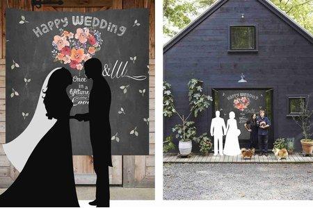 婚禮布式拍照背景