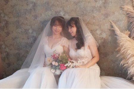 雙胞胎婚紗創作