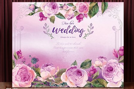 布式婚禮背板出租-雅典情深