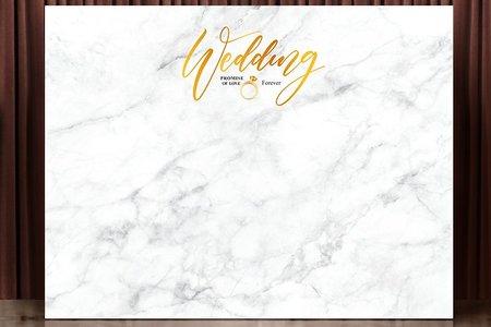 布式婚禮背板出租-爵士大理石