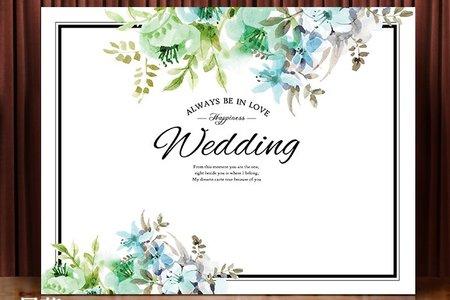 布式婚禮背板出租-萊茵河畔-藍