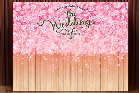 布式婚禮背板出租-和風櫻花木道