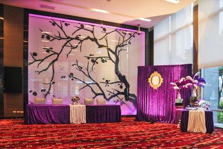 時尚婚宴佈置 (相片區、接待桌、桌花)