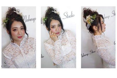 日系丸子頭x朝氣新娘