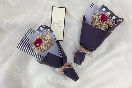 婚禮小物  Jomalone風格乾燥小花束 許願瓶乾燥花