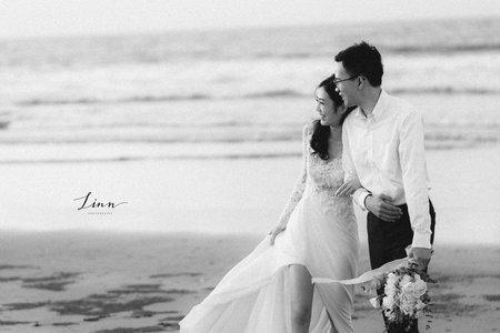 H & C black & white Engagment 美式婚紗(黑白底片風格)