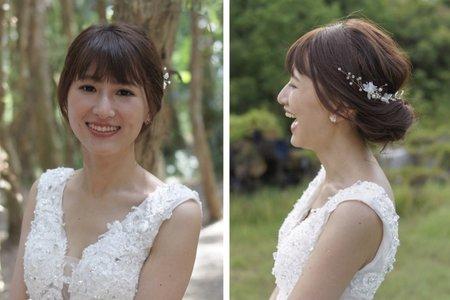 婚紗造型-盤髮