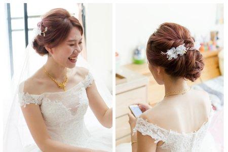 婚禮造型-盤髮