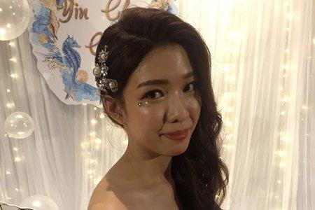 新秘現場實作/菁/送客/珍珠美人魚