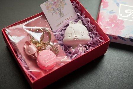 🌻 馬卡龍吊飾&松鼠擴香石 🌻 禮盒