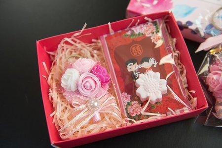 💗 網紗玫瑰吊飾vs擴香石💗-小禮盒