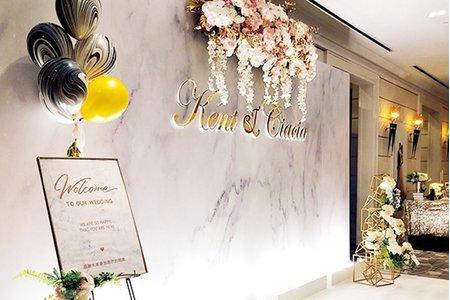 【時尚大理石】 婚禮背板/相片&簽到桌