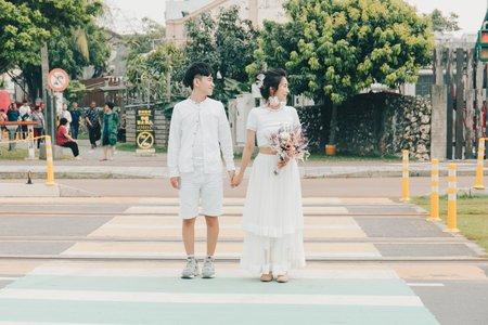 生活感婚紗|白紗一套+自備便服一套