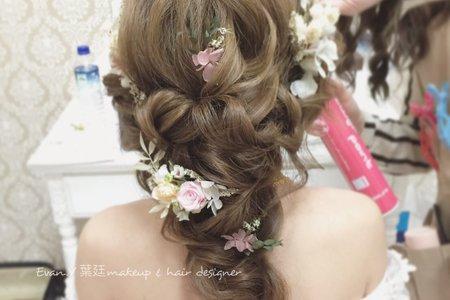 日系甜美編髮