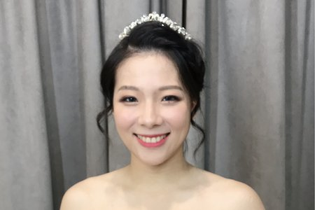 韓系公主編髮白紗進場造型💕