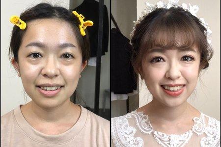 韓系浪漫花圈盤髮💕