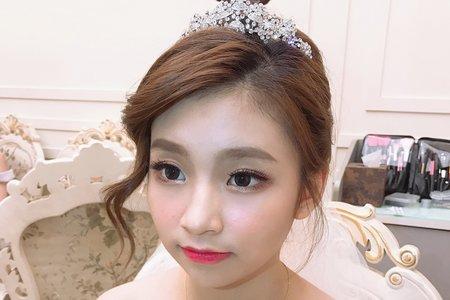 韓系甜美低盤髮造型💕