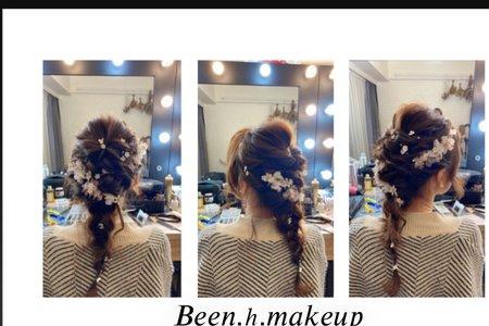 韓系乾燥花編髮