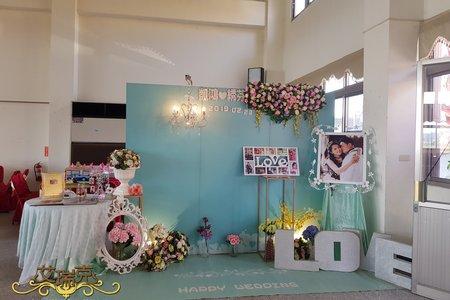 小資女方案-蒂芬妮主題婚禮背板佈置