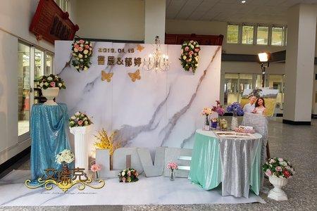 小資女方案-大理石背板婚禮佈置
