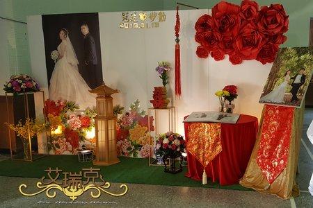 冠廷&妙勳 結婚喜宴 白色中國風主題婚禮佈置