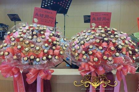 金莎巧克力花柱,婚禮佈置,二次進場禮