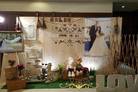婚禮佈置107.12.01-桃山餐廳 日式鄉村風婚禮佈置