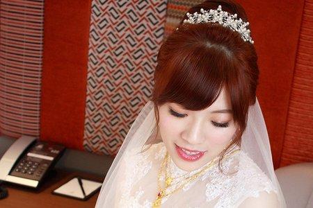 小清新的新娘造型