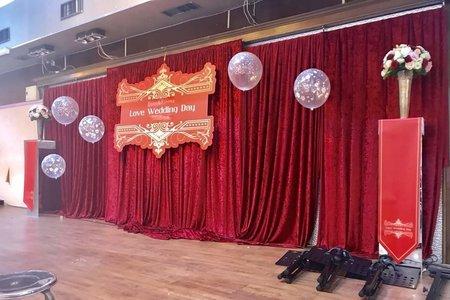 典雅中國風舞台謝課拍照區佈置