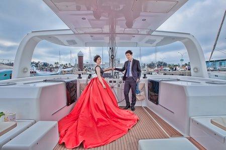 戶外證婚 | 帆船進場