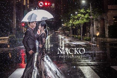 婚紗攝製 有你的城市下雨也美麗(雨璇 CP)