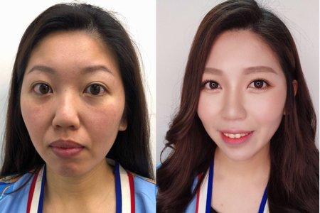 妝前妝後 Before and After