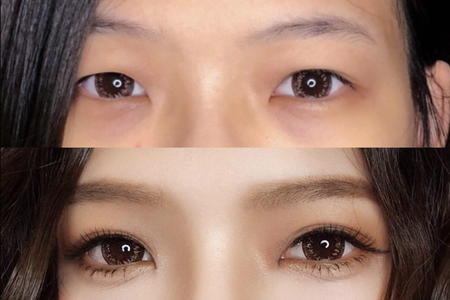 微整級妝容 Before and After