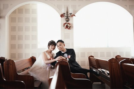 平面攝影-教堂爛漫婚禮(高雄大八宴客)
