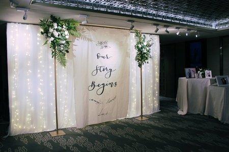 晶華酒店美式浪漫婚禮佈置
