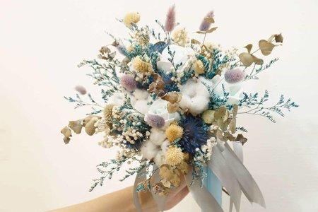 分享捧花(1)  - 深淺灰藍