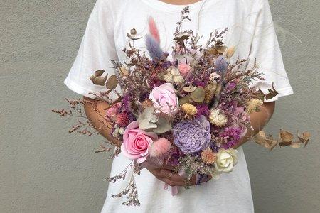 分享捧花(2) - 淡雅粉紫