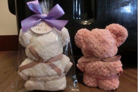 小熊造型毛巾