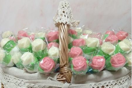 玫瑰棉花棒棒糖
