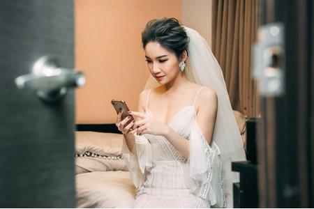 個性婚禮彩妝髮型