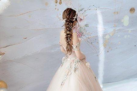 浪漫花系編髮造型