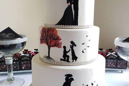 翻糖婚禮蛋糕-剪影系列
