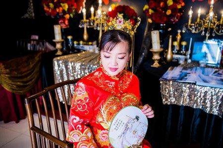 【振興方案】充滿富貴。喜氣的中式龍鳳褂(陶醴婚宴會館)
