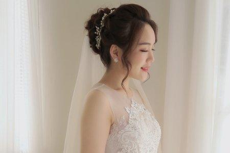 自然輕透新娘造型