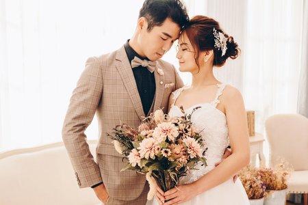 甜美可愛婚紗造型