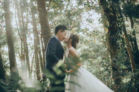 森林系婚紗造型