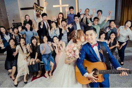 蘿蔔園 | 台南真理堂教堂證婚 | 午宴 佳里 信義國小 |孟勳 ღ 千珈 結婚午宴 婚禮紀錄  台南迎娶儀式