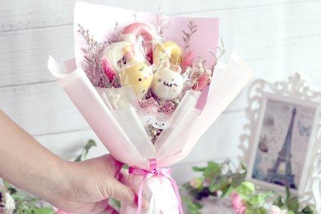 可愛爆棚的棒棒糖花束