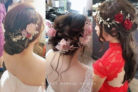 韓式編髮造型/乾燥花.不凋花